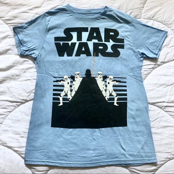Star Wars Other - Star Wars - Retro Baby Blue Dark Side Tee